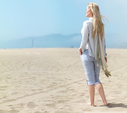 single woman on the beach