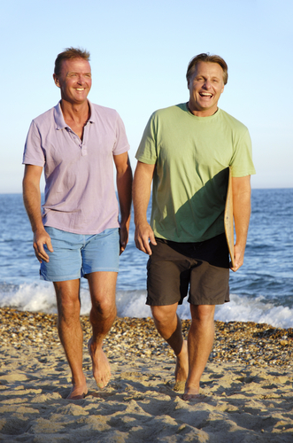 gay men on the beach