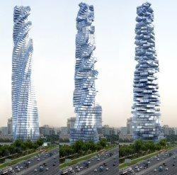 wind powered rotating skyscraper