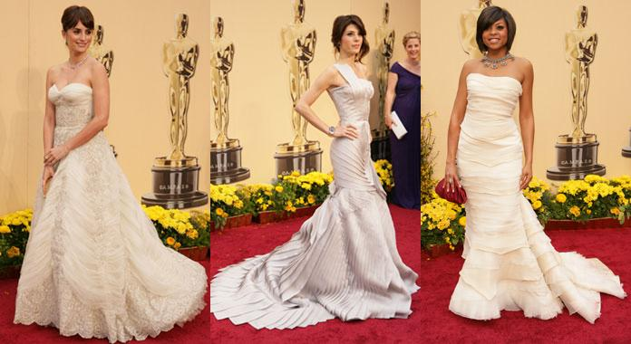 White dress oscar 2009